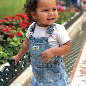 Baby girl denim overall size 12-18 m